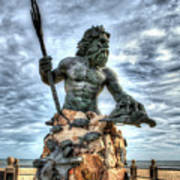 King Neptune Virginia Beach  Poster