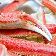 King Snow Crab Legs Ready To Eat Closeup Poster