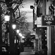King Street At Night - Old Town Alexandria Poster