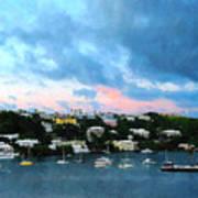 King's Wharf Bermuda Harbor Sunrise Poster