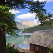Kintla Lake Ranger Station Glacier National Park Poster by Marty Koch
