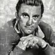 Kirk Douglas Hollywood Actor Poster