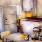 Kitchen - A 1960's Kitchen  Poster
