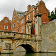 Kitchen Or Wren Bridge And St. Johns College From The Backs. Cambridge. Poster