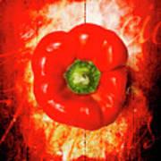 Kitchen Red Pepper Art Poster