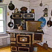 Kitchen Stove In Old Victoria-michigan  Poster