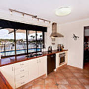 Kitchen With A River View Poster