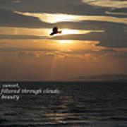 Kite Sunset - Haiku Poster