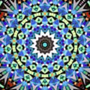 Kite Tiles Mandala Poster