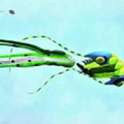 Kites Flying During Kite Festival Poster