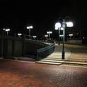 Kittamaqundi Nights - Fountain Stairway Poster