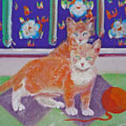 Kittens With Wild Wool Poster