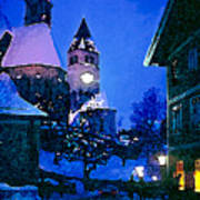 Kitzbuhl At Night-4 Poster