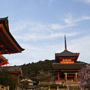 Kiyomizu-dera In Bloom Poster