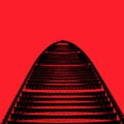 Kk100 Shenzhen Skyscraper Art Red Poster