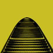 Kk100 Shenzhen Skyscraper Art Yellow Poster