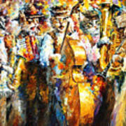Klezmer Cats - Palette Knife Oil Painting On Canvas By Leonid Afremov Poster