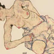 Kneider weiblicher halbakt Poster