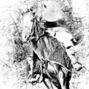 Knight With His Horse Poster