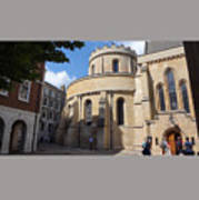 Knights Templar Church- London Poster