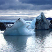 Knik Glacier Icebergs Poster