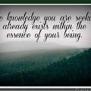 Knowledge You Seek Poster