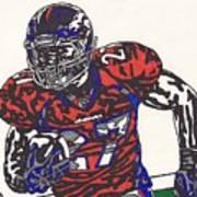 Knowshon Moreno 2 Poster by Jeremiah Colley