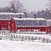 Knox Farm Snowfall Poster by Don Nieman