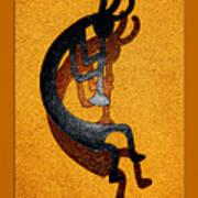 Kokopelli Golden Harvest Poster