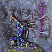 Kokopelli Cave Painting Poster
