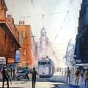 Kolkata City With Tram Poster