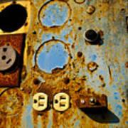 Kontroller Rust And Metal Series Poster by Mark Weaver