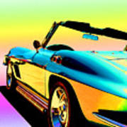 Kool Corvette Poster by Lynn Andrews
