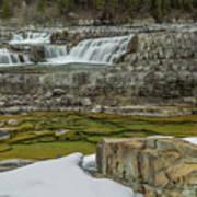 Kootenai Falls In Winter Poster