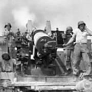 Korean War Artillerymen Poster