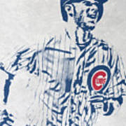 kris bryant CHICAGO CUBS PIXEL ART 2 Poster
