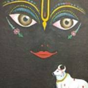 Krishna With Cow Poster