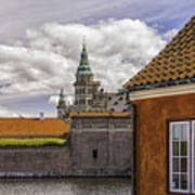 Kronborg Castle From The Moat House Poster