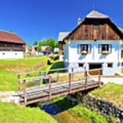 Kumrovec Picturesque Village In Zagorje Region Of Croatia Poster