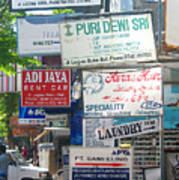 Kuta Street Signs -- Bali Poster