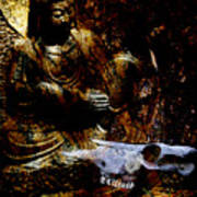 Kwan Yin Meditates Poster