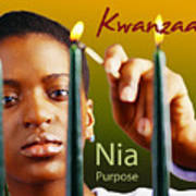 Kwanzaa Nia Poster by Shaboo Prints