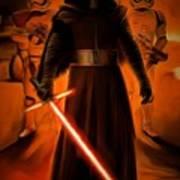Kylo Ren In The Battlefield Poster