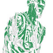 Kyrie Irving Boston Celtics Pixel Art 42 Poster
