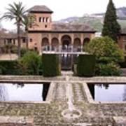 La Alhambra Garden Poster