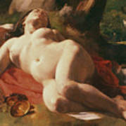 La Bacchante Poster by Gustave Courbet