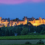 La Cite Carcassonne Poster by Brian Jannsen