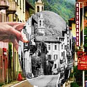 La Comacina Ristorante-colonno, Ital Poster