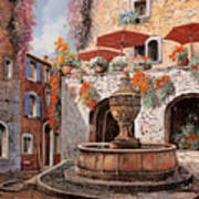 la fontana a St Paul de Vence Poster