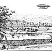 La France Airship, 1884 Poster